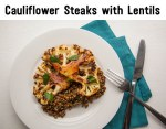 Cauliflower Steaks with Lentils