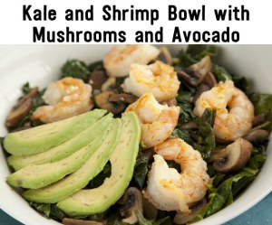 Kale and shrimp bowl