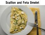 Scallion and Feta Omelet
