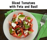 Sliced Tomato with Basil, Feta and Balsamic