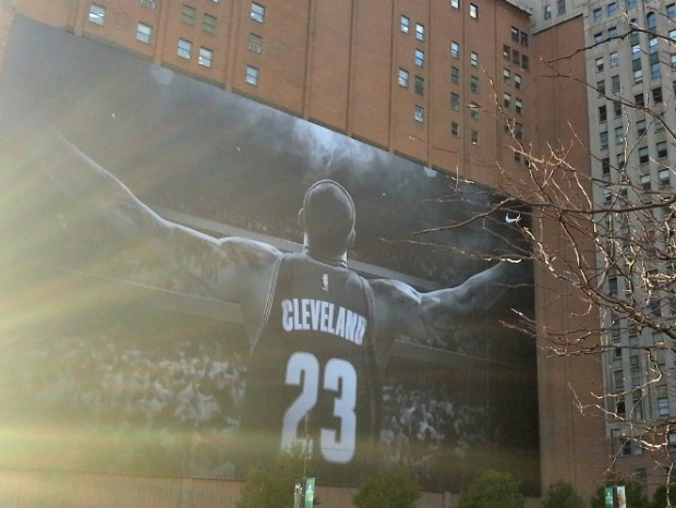 LeBron James Mural