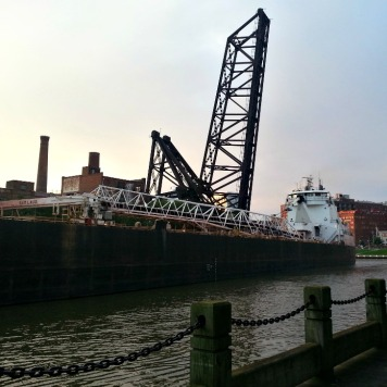 Sam Laud Freighter on the Cuyahoga