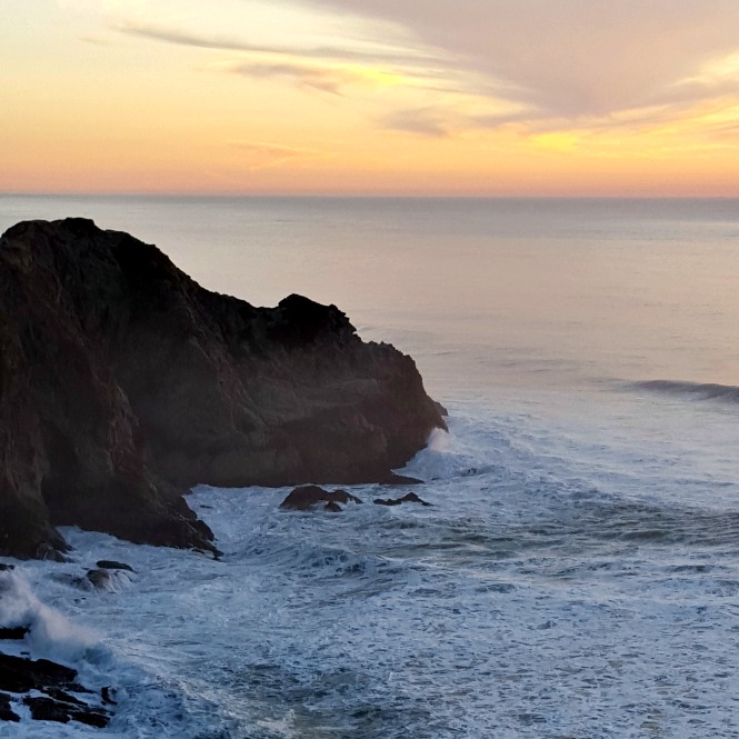 Sunset along the Pacific Coast