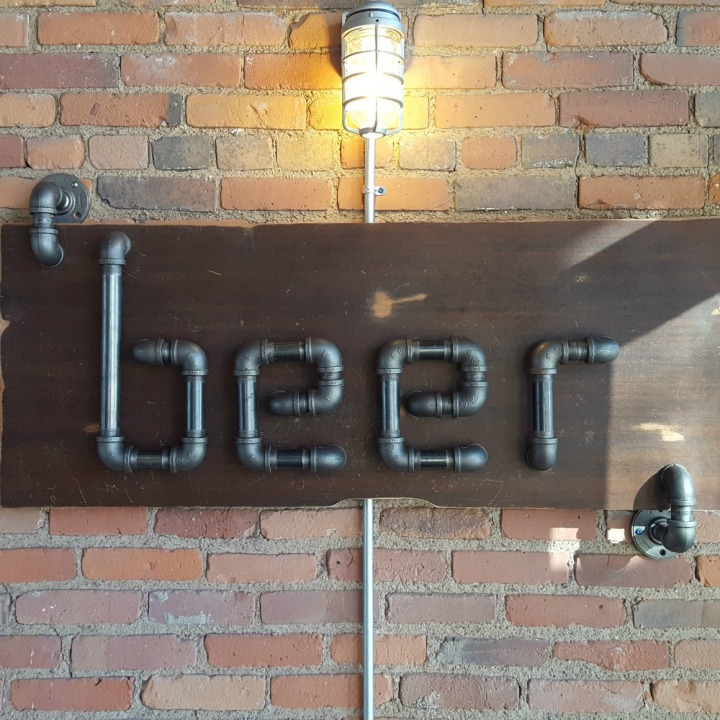 Beer Sign at Noble Beast Brewery